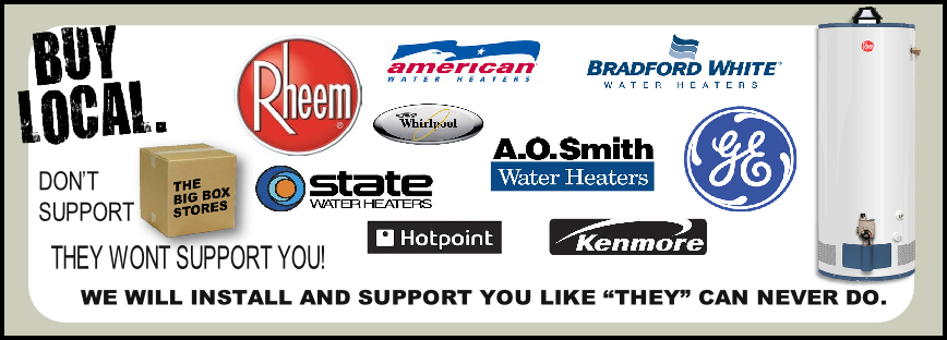 WATER HEATER BANNER AD