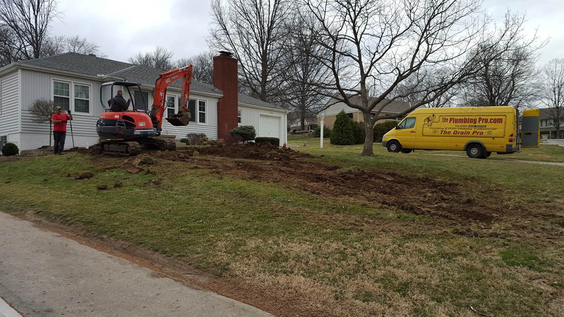 frustrated plumbing dig job