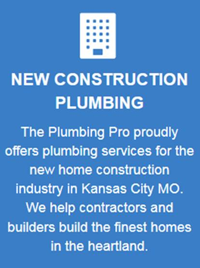 new construction plumbing services button blue