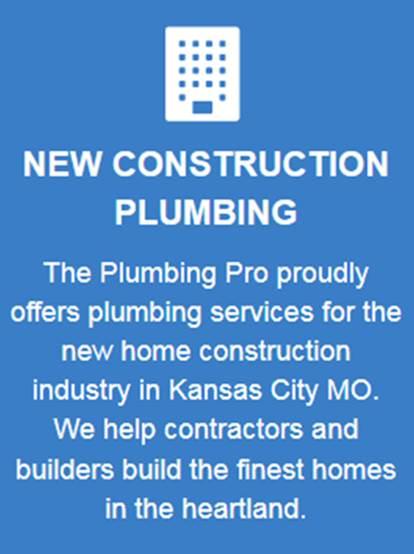 new construction plumbing services button blue
