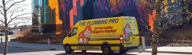 Showing off new plumbing pro van in johnson county kansas