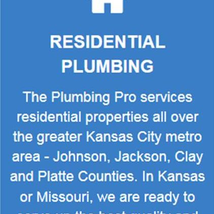 residential plumbing services button blue