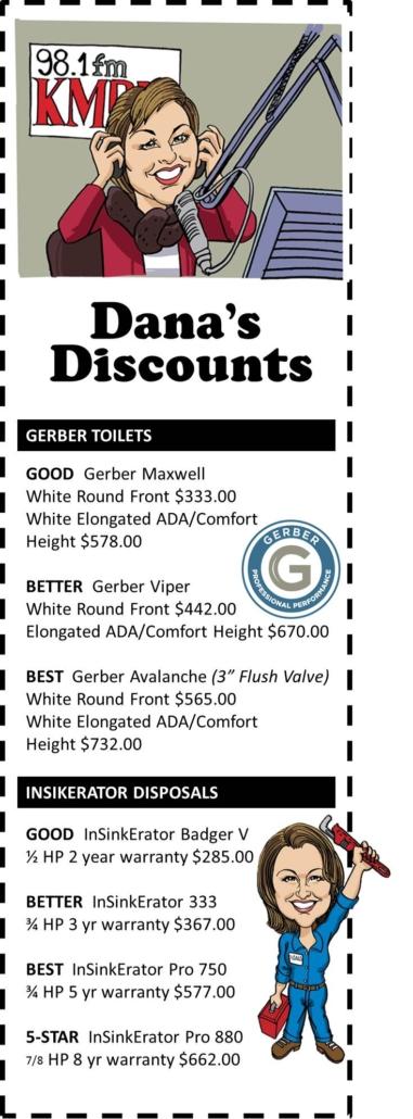 dana toilet discount