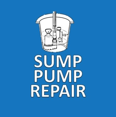 Blue Sump Pump Repair Button