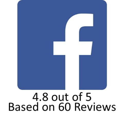 Facebook Review button 60 reviews