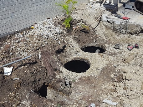 before grease trap replacement at Arbys
