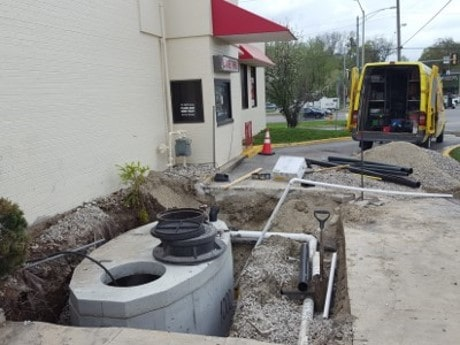 Arbys Grease trap replacement