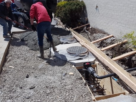 Grease trap replacement in drive thru lane
