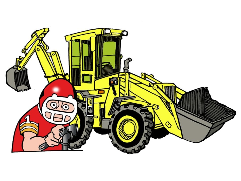 The Plumbing Pro with backhoe