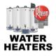 Water heaters from Rheem