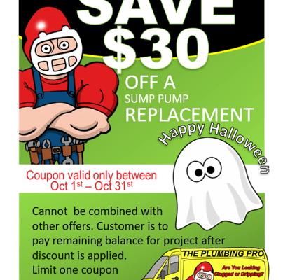 sump pump coupon oct