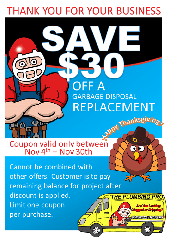 garbage disposal coupon november 2019