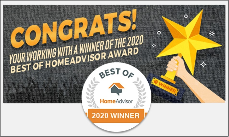 Best of 2020 HomeAdvisor Award